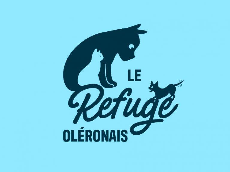 Logo comprenant un chien et un chat. Il a été designer pour le refuge Oléronais.